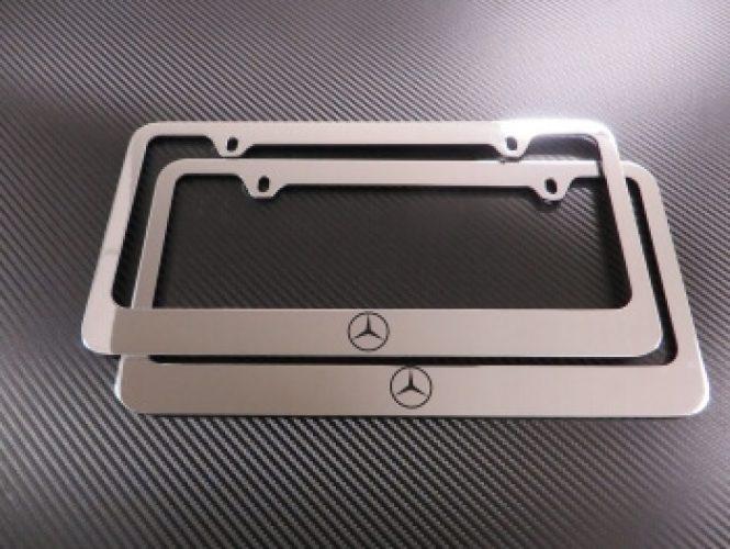 1999-2016 Mercedes-Benz Logo Front & Rear Chrome Metal License Plate ...