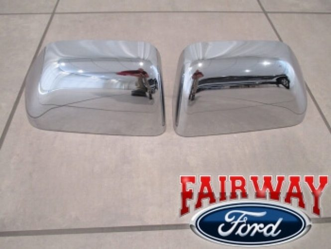Ford F F F F Super Duty Oem Ford Chrome Mirror Cover Cap Set